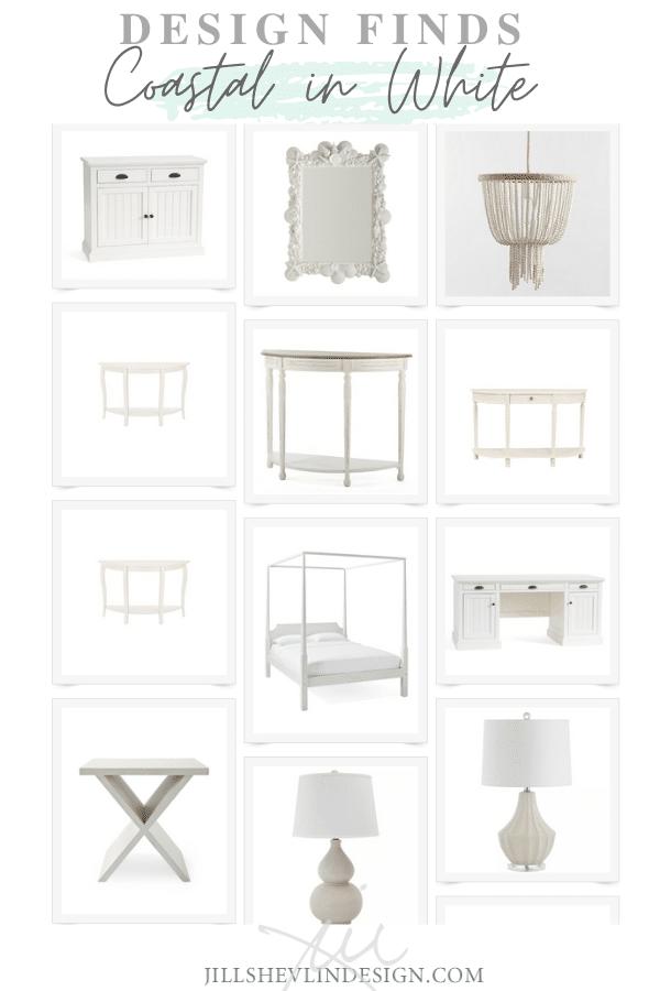 Coastal Furniture and Home Decor  Finds in White JIll Shevlin design Vero Beach (1)