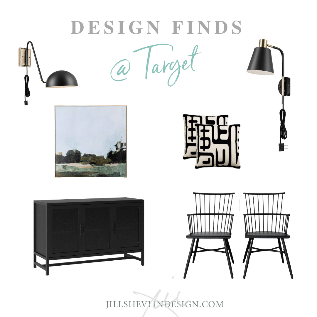 Modern Industrial Farmhouse in Black Design Finds From Target Jill Shevlin Design Vero Beach Inteiror Designer