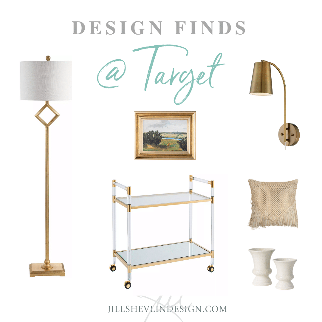 Casual Glam with Gold Home Decor Target Design Finds Jill Shevlin Design Vero Beach Interior Designer
