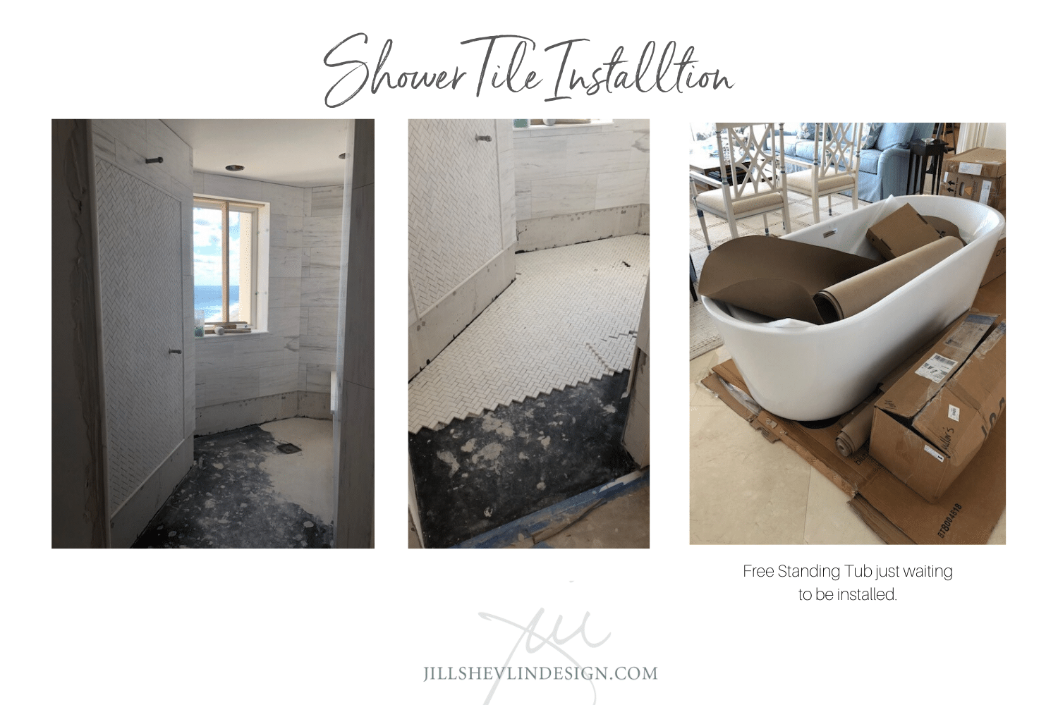 Shower Tile  Install Master Bath Remodel Jill Shelvin Design Jupiter Island (9)