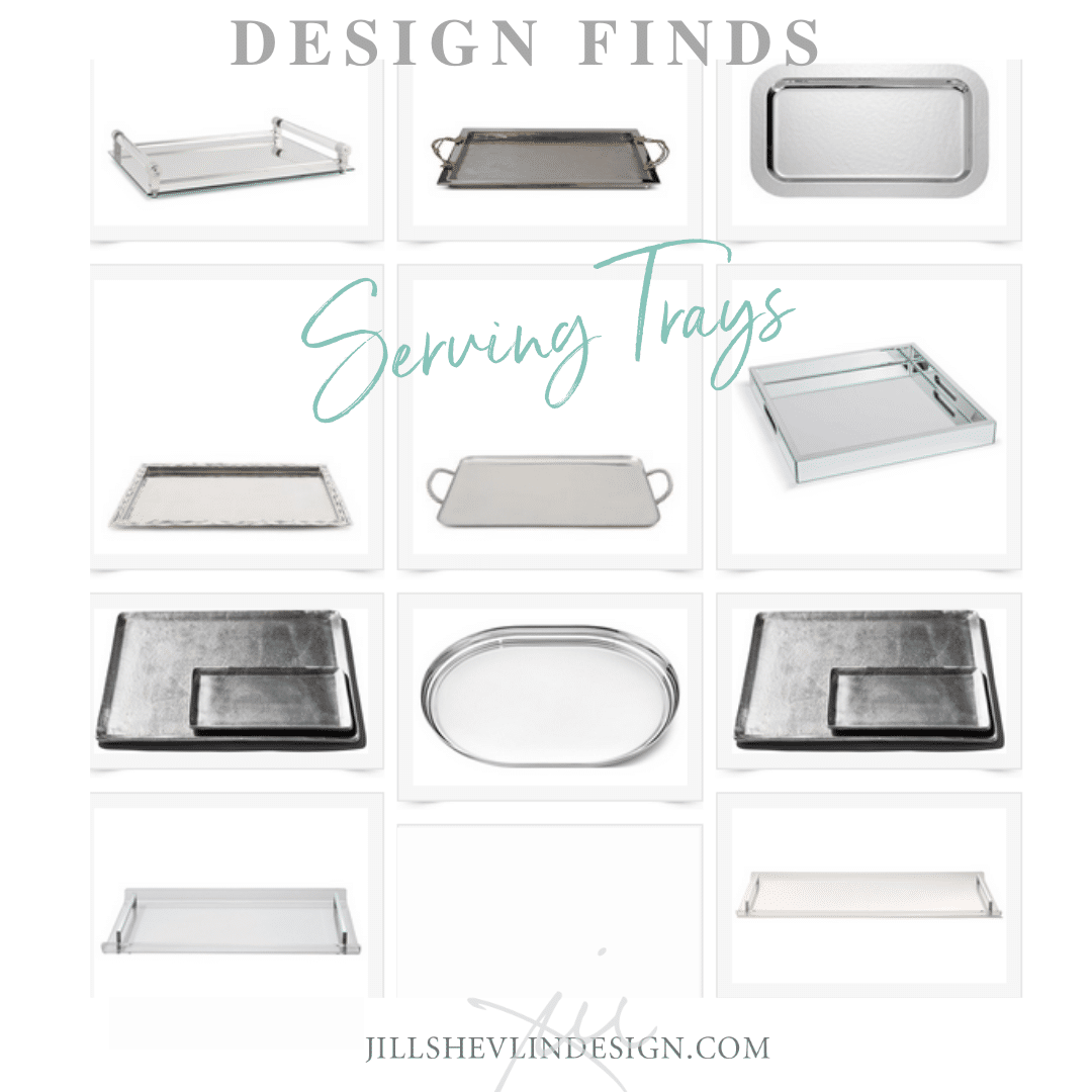 Trays - Silver Trays - Serving Trays - Lucite Trays Dilay Finds Jill Shevlin Desgin