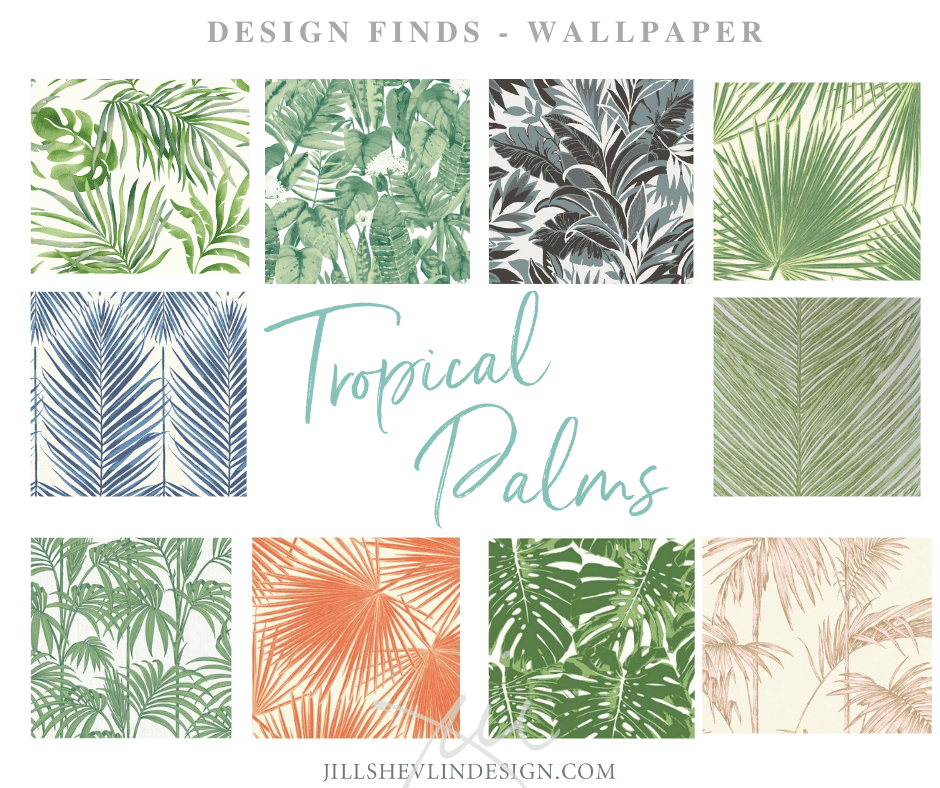 Tropical palm Wallpaper jill Shevlin Design