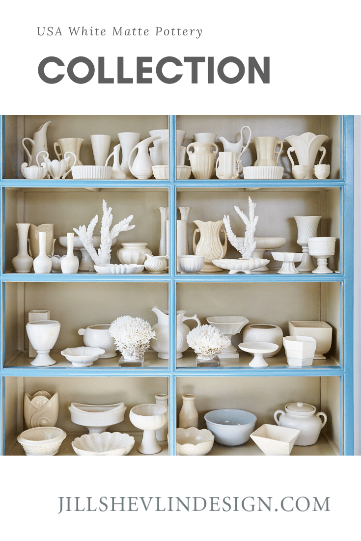 USA White Matte Pottery Collection Jill Shevlin Design