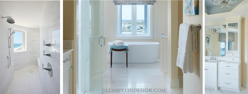 Jill Shevlin Design Vero Beach Interior Designer Master Bath Renovation Jupiter Island Free standing Tub