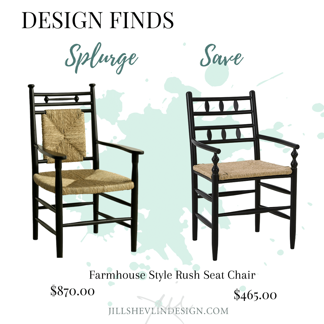 Farmhouse Chair Splurge or Save Jill Shevlin Design Vero Beach Interior Designer