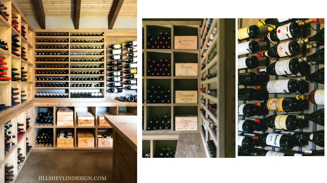Wine House interior Ranch Santa Fe Jill Shevlin Design