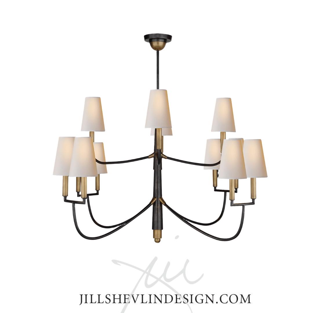 Bronze and Brass Chandelier Jill Shevlin Design