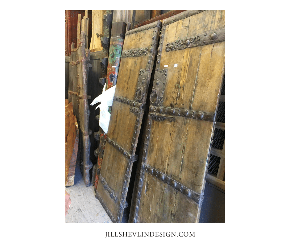 Rancho Santa Fe Remodel Antique Doors Jill Shevlin Design
