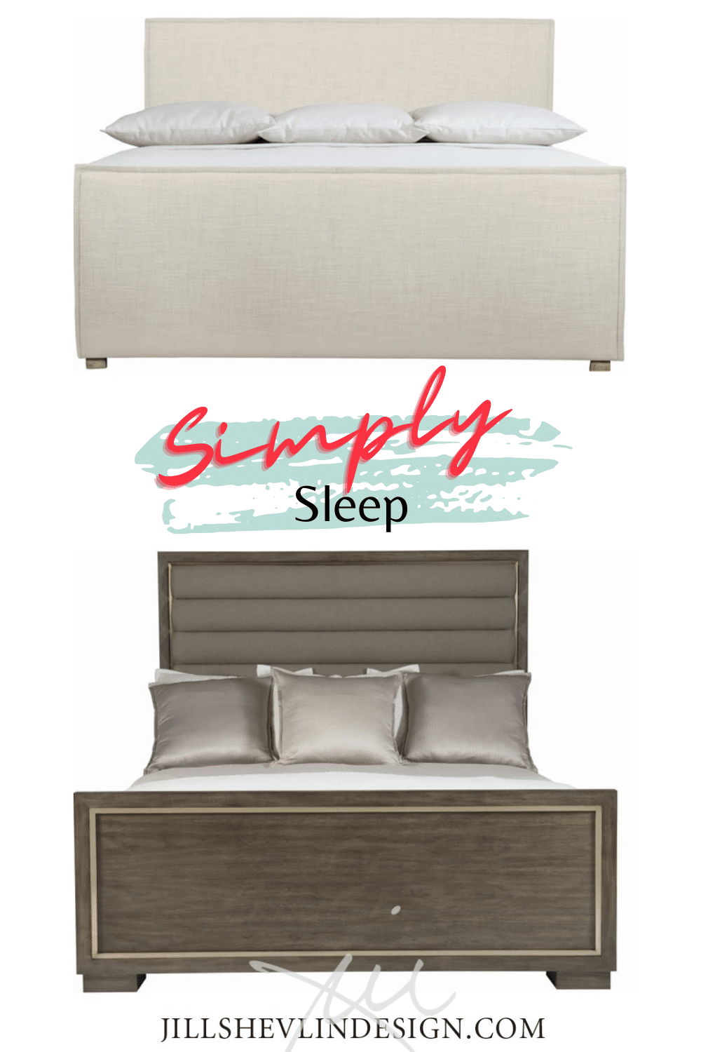 Beds Jill Shevlin Design Simple Slip covered bed WOod upholsterd bed