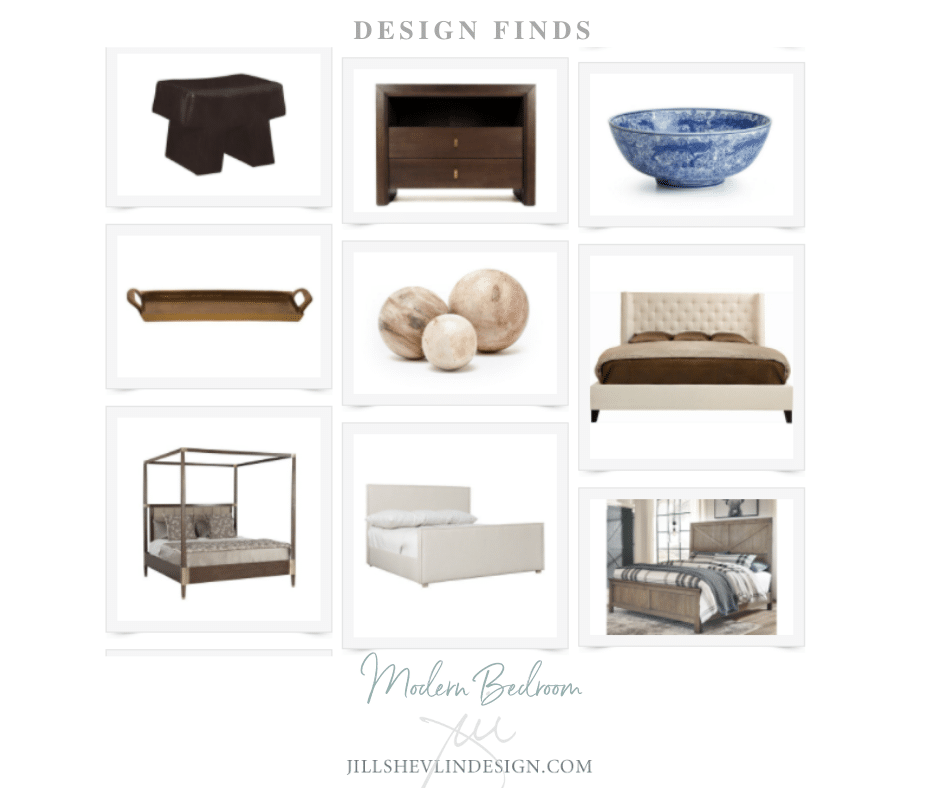 Modern Master Bedroom shop Jill Shevlin Design Vero beach interior Designer