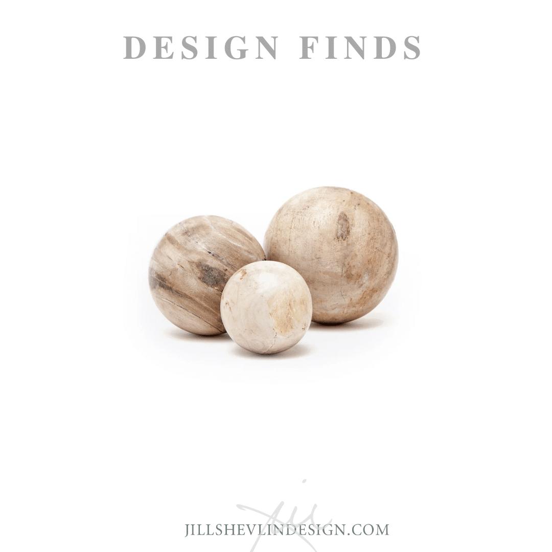 Wood decorative balls jill shevlin design shop accessiores