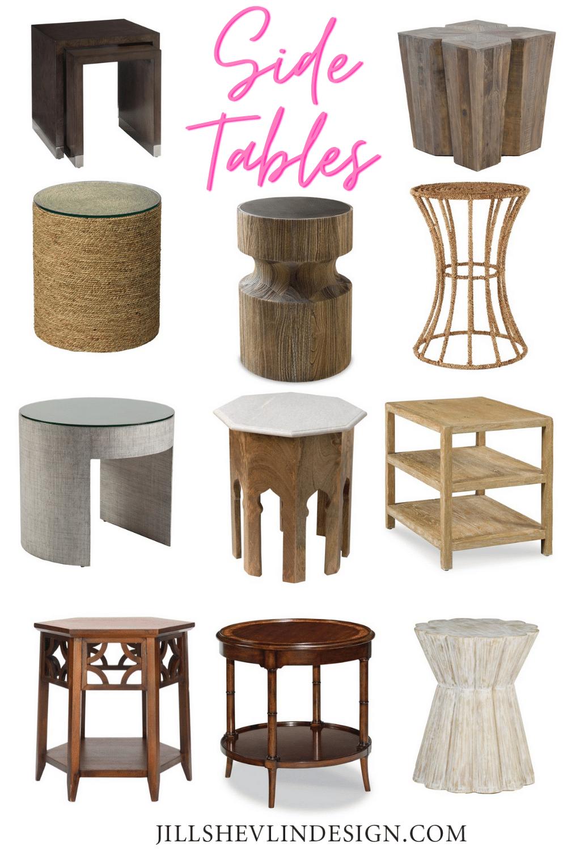Living Room Side Tables From Vero Beach Interior Designer Jill Shevlin Design