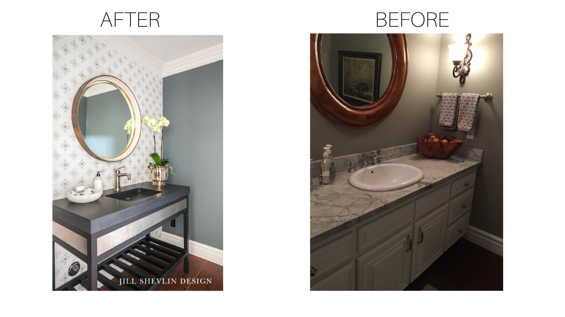 Before and After Powder Bath Jill Shevlin Design