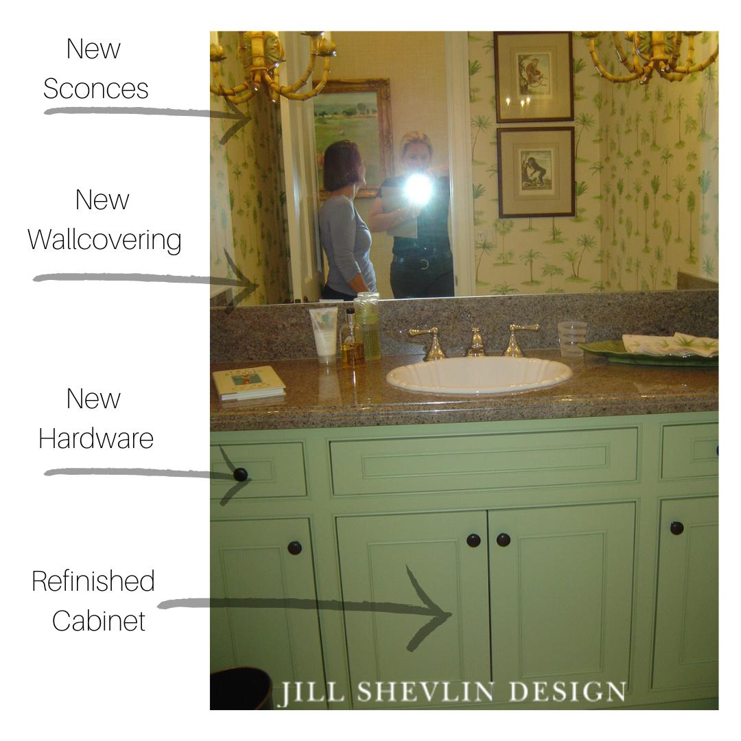 Powder Room Revamp Before Jill Shevlin Desgin
